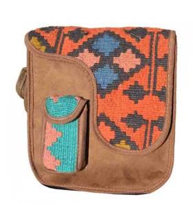 کیف دستی دانشجویی گلیم و چرم